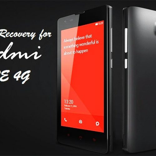 Recovery TWRP for Redmi NOTE 4G Dual Sim [UPDATED]