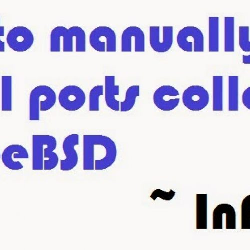 [FreeBSD] How to install ports collection manually in FreeBSD