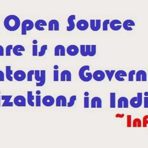 Use of Open Source Software is now mandatory in Indian government organizations