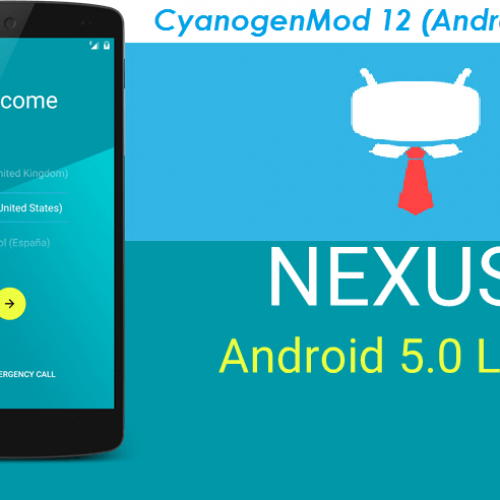 Nexus 5 Lollipop 5.1 CyanogenMod 12.1 ROM