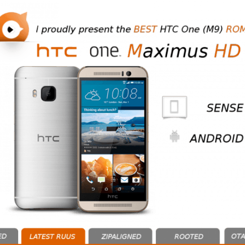 HTC One M9 Custom ROM, MaximusHD 5.0.0