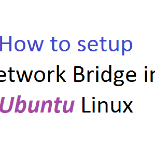 How to setup a network bridge in Ubuntu Linux