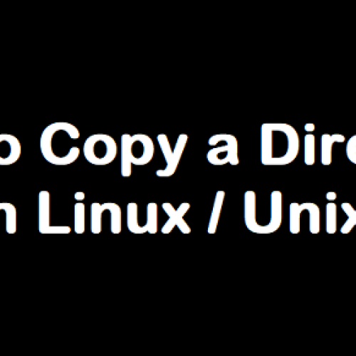 How to Copy Directory in Linux / Unix