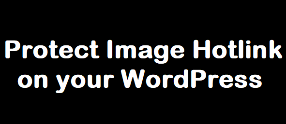 Protect image hotlink on wordpress