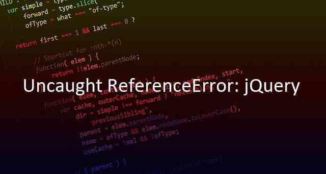 Uncaught ReferenceError: jQuery is not defined - FIX